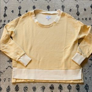 Alternative Striped Sweatshirt in Yellow